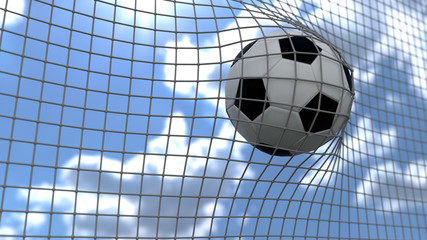 3d illustration of a soccer goal
