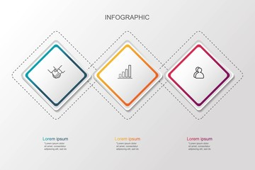 Presentation creative concept business data visualization for infographic. With 3 options. Vector illustration EPS10.