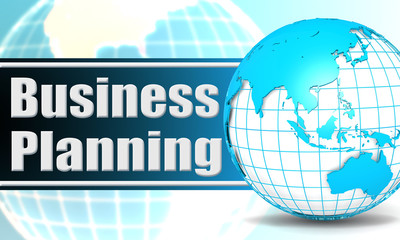 Business planning with sphere globe