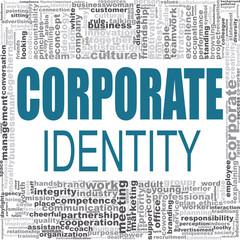 Corporate identity word cloud