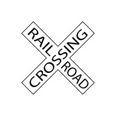 USA traffic road signs. crossbuck sign ,railroad crossing. vector illustration