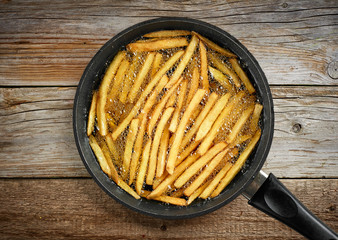 frying french fries