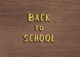 Back to school banner template. Vector illustration.