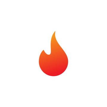Fire logo or icon design template