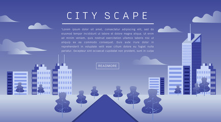 Cityscape Vector Flat illustration