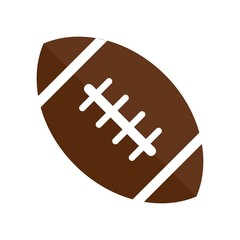 American football icon vector icon. Simple element illustration. American football symbol design. Can be used for web and mobile.