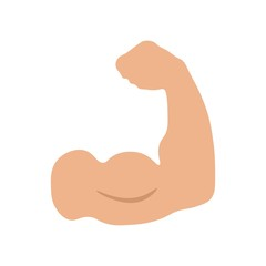 Muscle icon vector icon. Simple element illustration. Muscle symbol design. Can be used for web and mobile.