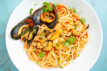 Spaghetti con cozze e pomodoro, Mediterranean food