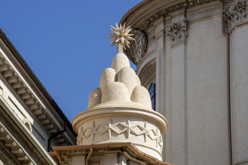 Rome, Italy - The church of Sant'Ivo alla Sapienza