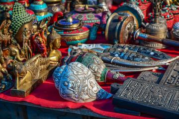 Souvenirs at flea market