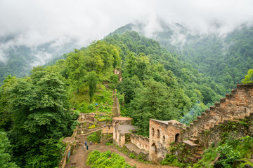 Rudkhan Castle architecture in Iran. Rudkhan Castle is a brick and stone medieval castle, located 25 km southwest of Fuman city north of Iran in Gilan province.
