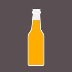 Beer bottle Icon. Mock up glass beer lemonade Clean Bottle. Symbol Template Logo. Isolated vector illustration.
