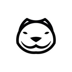 Pitbull Face Logo