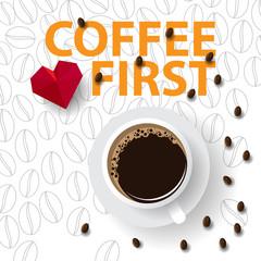 Coffee First creative design