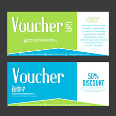 nice and creative gift vouchers templates with nice and beautiful design illustration.