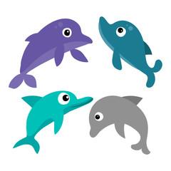 dolphin vector collection design