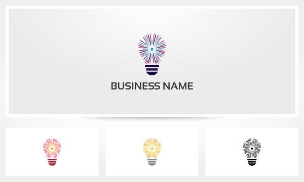 Lightbulb Shining Ray Logo