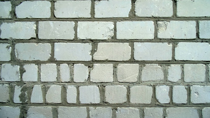 Abstract white brick wall texture
