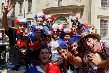 Soccer Football - World Cup - Final - France fans gather before match France v Croatia