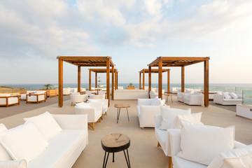 Fototapeta Cafe bar in sea hotel resort