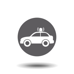 Police car icon. Vector symbol. Police car illustration