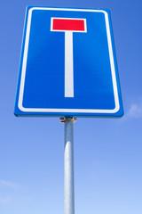Dutch road sign: no through road