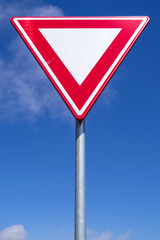 Dutch road sign: give way