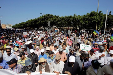 Demonstration against Moroccan court jailing of activists in Rabat