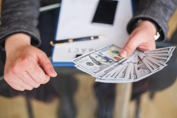 Bribery concept. Corruption Corporate Business Espionage Illegal Concept