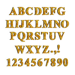 Decorative font set