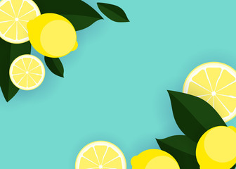 Abstract Lemon Background Vector Illustration