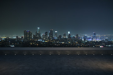 Photo sur Aluminium Batiment Urbain night panoramic city view