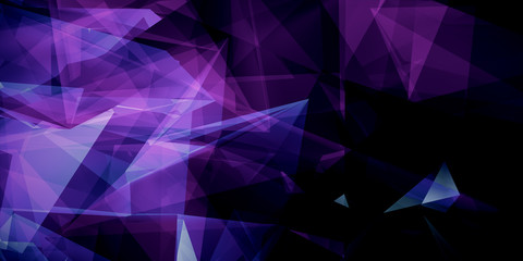 abstract purple triangles background Wall mural