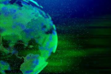 abstract world map globe