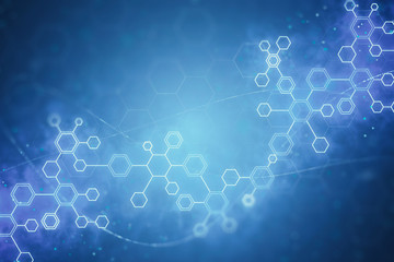 abstract DNA molecules background