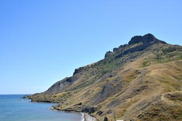 вид на потухший вулкан Карадаг. Крым.
