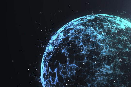 abstract globe network concept
