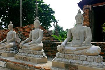 Buddha Statues in Ayutthaya.