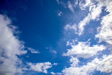 Abstract Natural cloud on blue sky background