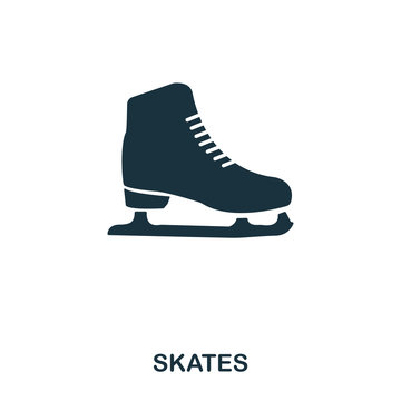 Skates icon. Premium style icon design. UI. Illustration of skates icon. Pictogram isolated on white. Ready to use in web design, apps, software, print.
