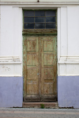 Photo of antique vintage old style wooden door