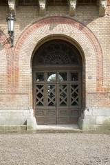 Photo of antique vintage old style wooden door