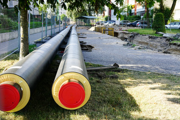 replacement and reconstruction of the heating system pipelines in the city