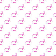 Seamless rabbit pattern.