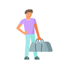 boy with luggage