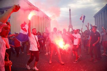 World Cup - Final - France fans watch France v Croatia
