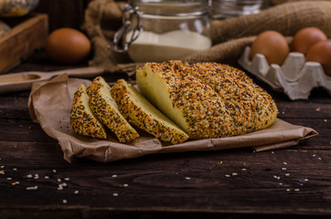 Homemade bread, product photo
