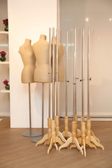 Mannequins tailors with holders