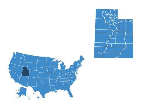 Map of Utah state