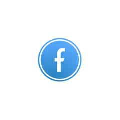 Letter F. Social network. Vector icon illustration